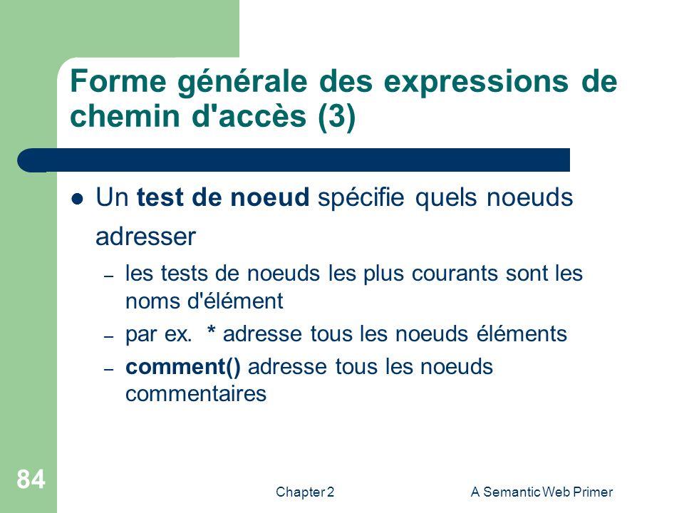 Forme générale des expressions de chemin d accès (3)