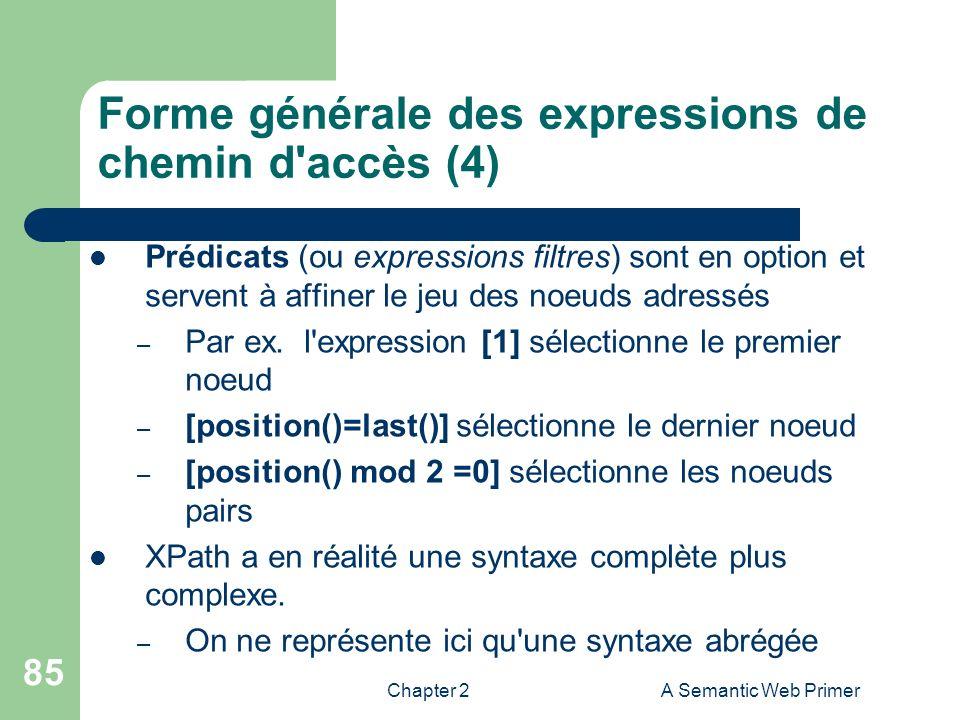 Forme générale des expressions de chemin d accès (4)