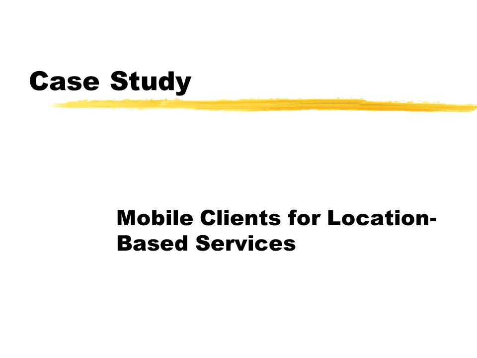 Mobile Clients for Location-Based Services