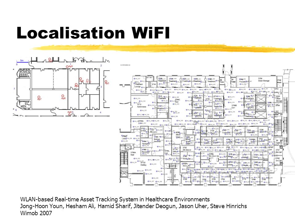 Localisation WiFI WLAN-based Real-time Asset Tracking System in Healthcare Environments.