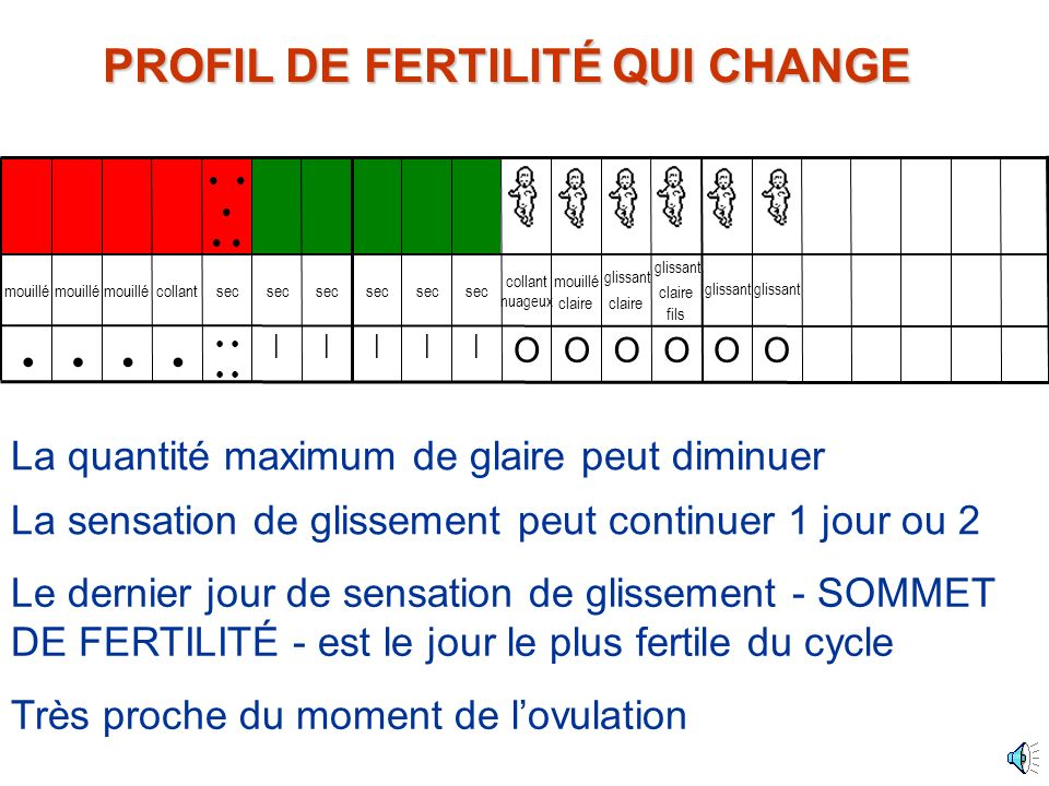 PROFIL DE FERTILITÉ QUI CHANGE