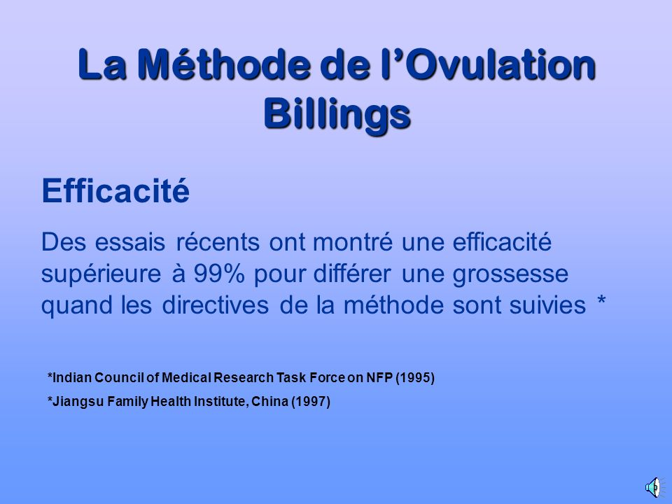 La Méthode de l'Ovulation Billings
