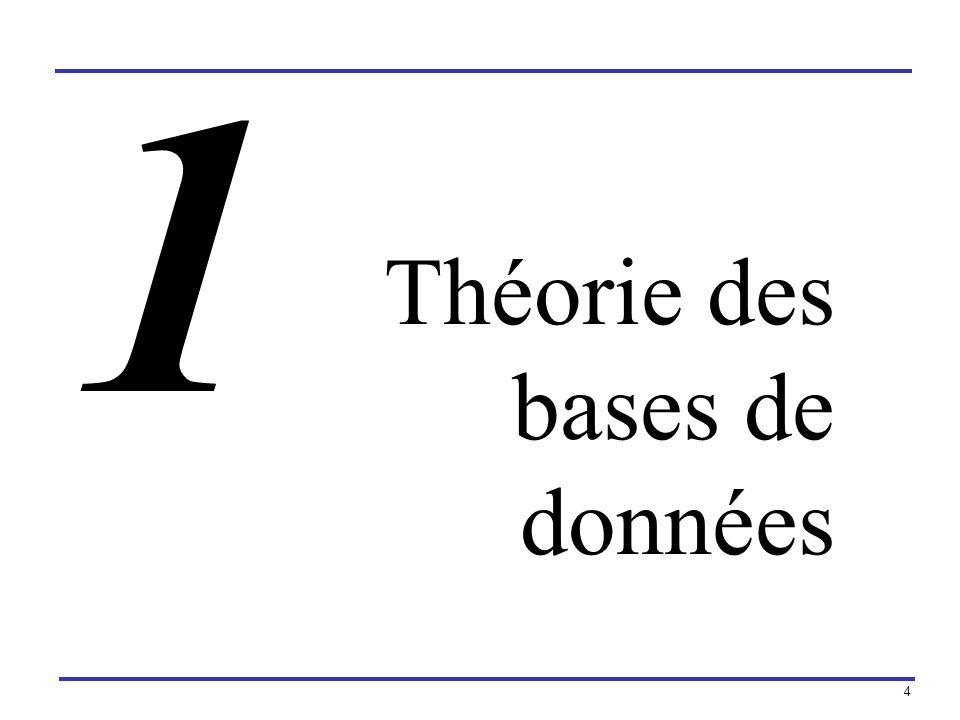 1 Théorie des bases de données