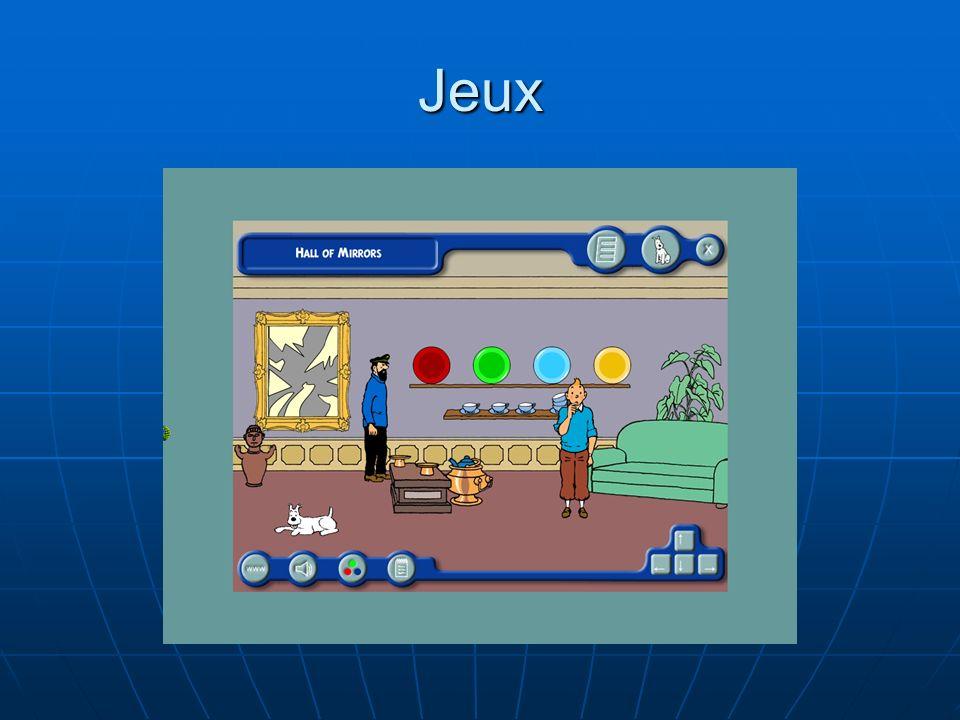 Jeux Les réponses obtenues de chaque jeu doivent être correctement traitées pour avoir un imprimé détaillé sur son profil.