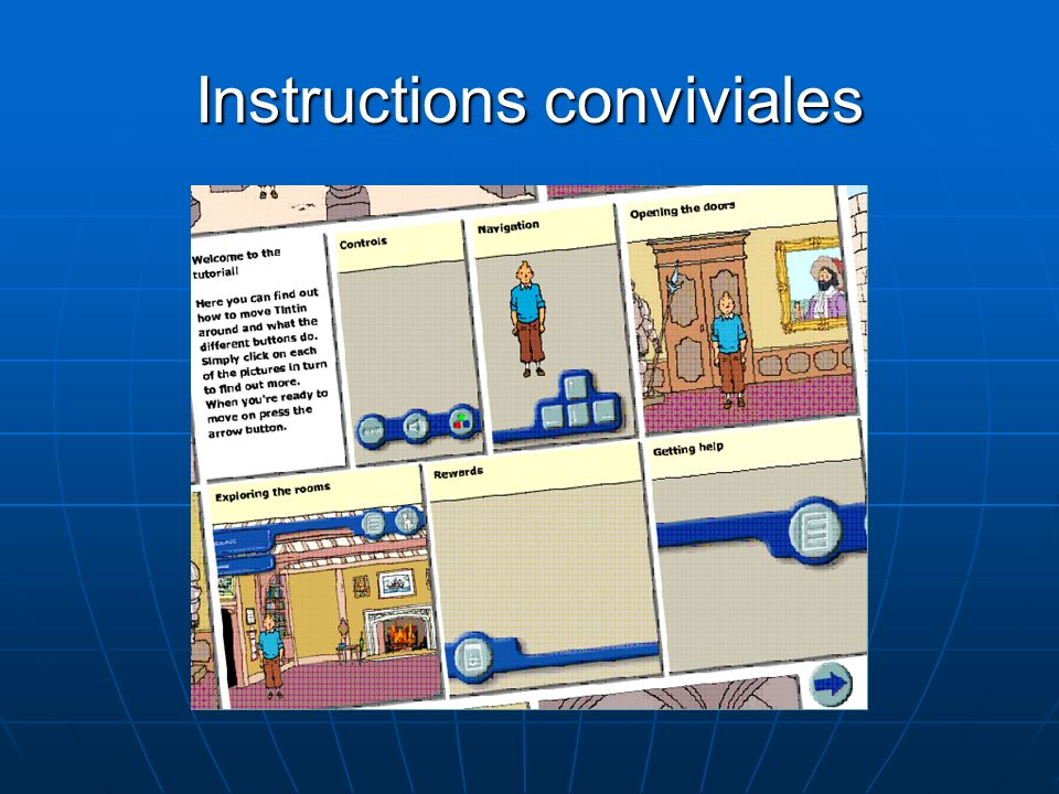 Instructions conviviales