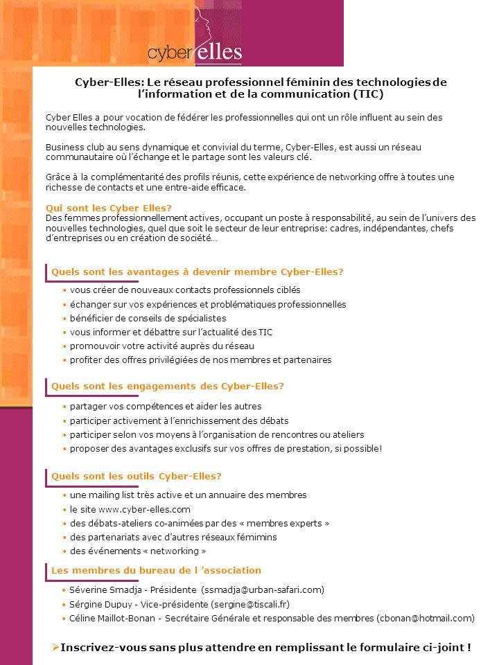 Cyber-Elles: Le réseau professionnel féminin des technologies de l'information et de la communication (TIC)
