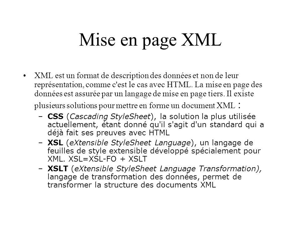 Mise en page XML