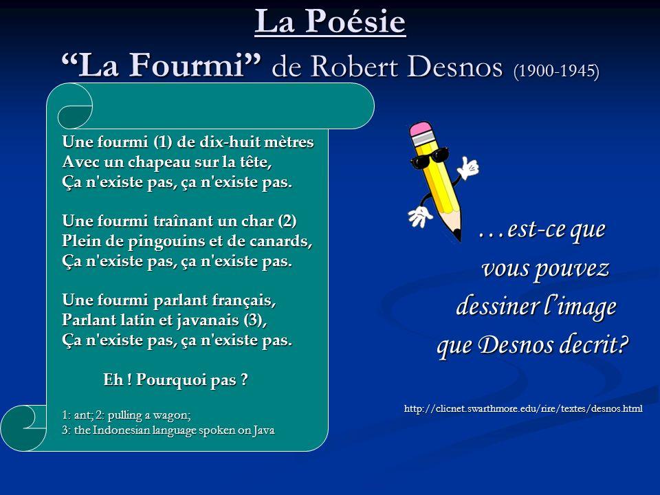 La Poésie La Fourmi de Robert Desnos (1900-1945)