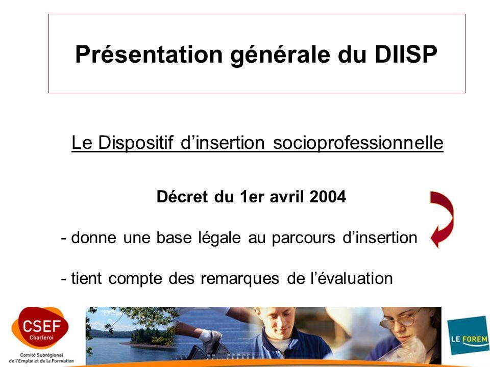 Présentation générale du DIISP
