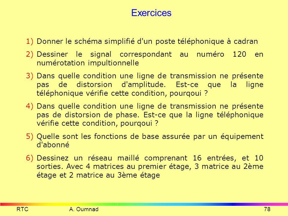 Exercices Donner le schéma simplifié d un poste téléphonique à cadran