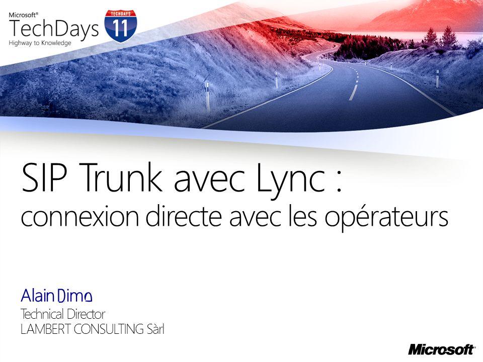 SIP Trunk avec Lync : connexion directe avec les opérateurs