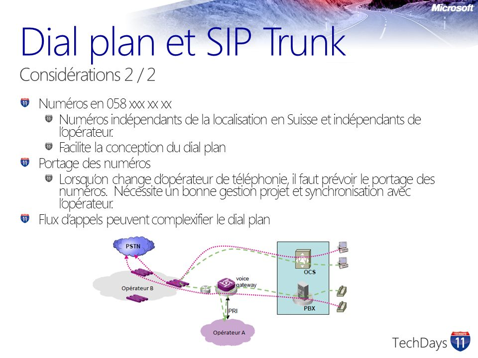 Dial plan et SIP Trunk Considérations 2 / 2