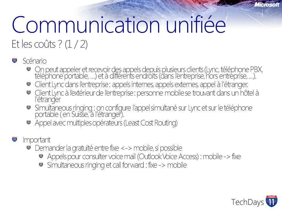 Communication unifiée Et les coûts (1 / 2)
