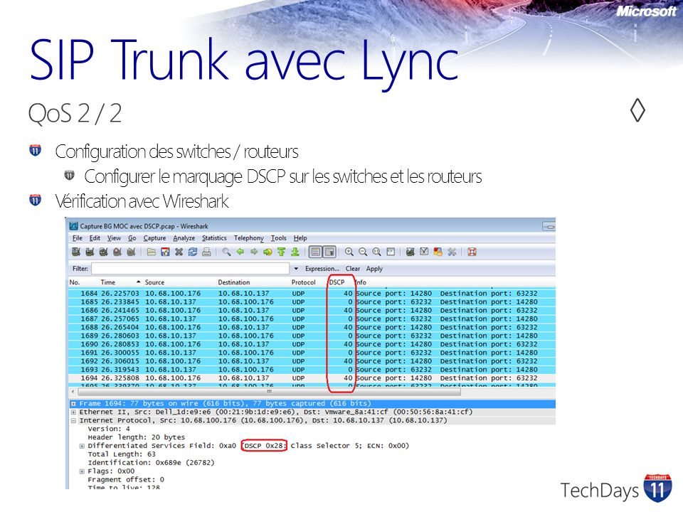 SIP Trunk avec Lync QoS 2 / 2 ◊