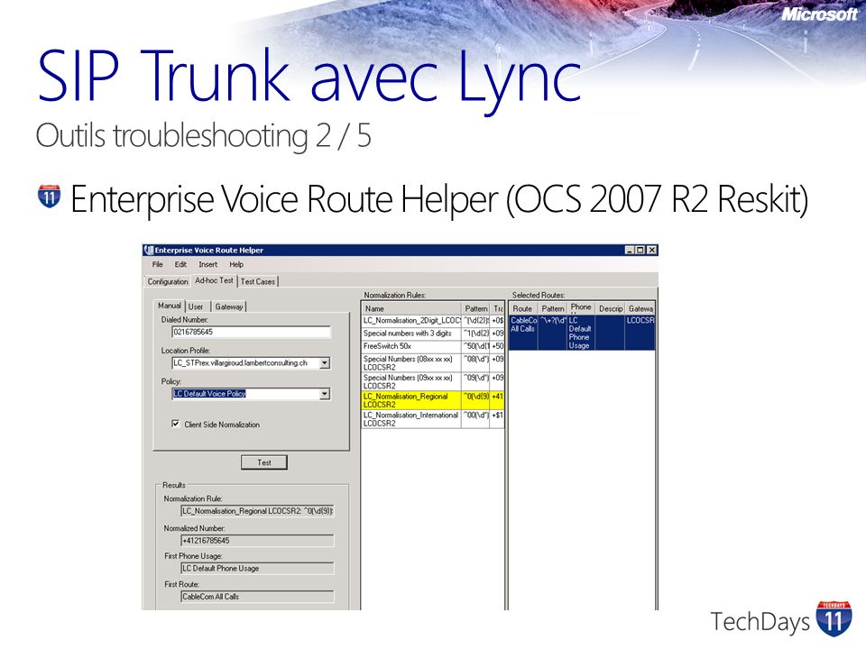 SIP Trunk avec Lync Outils troubleshooting 2 / 5