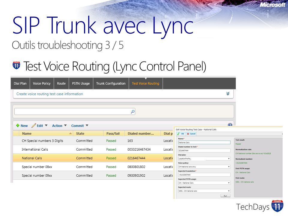SIP Trunk avec Lync Outils troubleshooting 3 / 5