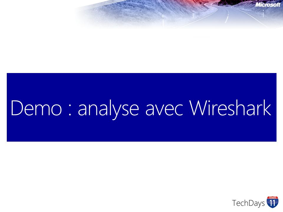 Demo : analyse avec Wireshark