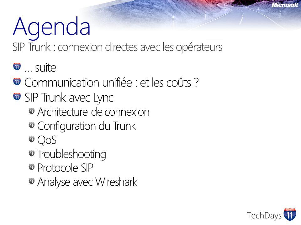 Agenda SIP Trunk : connexion directes avec les opérateurs