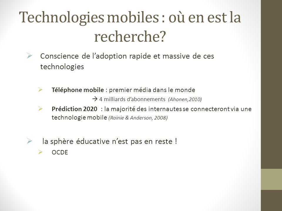 Technologies mobiles : où en est la recherche