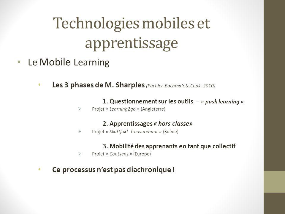 Technologies mobiles et apprentissage