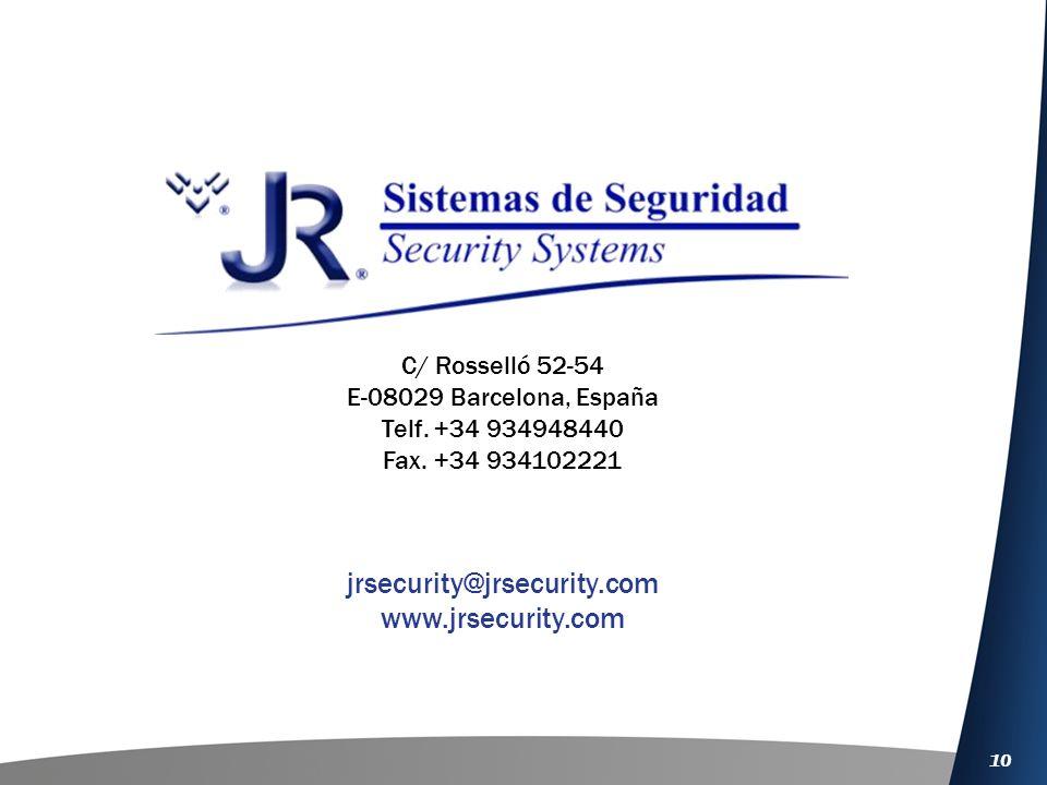 jrsecurity@jrsecurity.com www.jrsecurity.com C/ Rosselló 52-54
