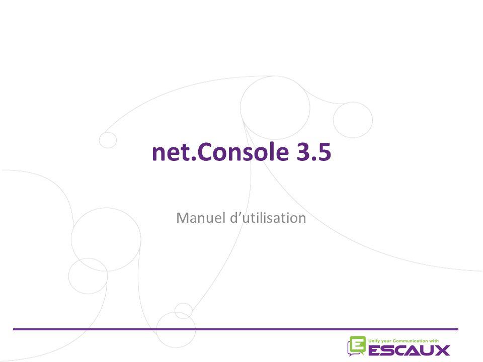 net.Console 3.5 Manuel d'utilisation 1 1
