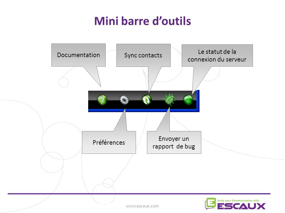 Mini barre d'outils www.escaux.com