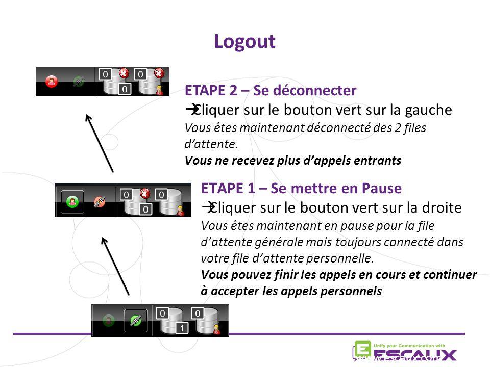Logout ETAPE 2 – Se déconnecter