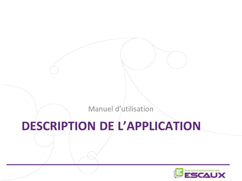 Description de l'application