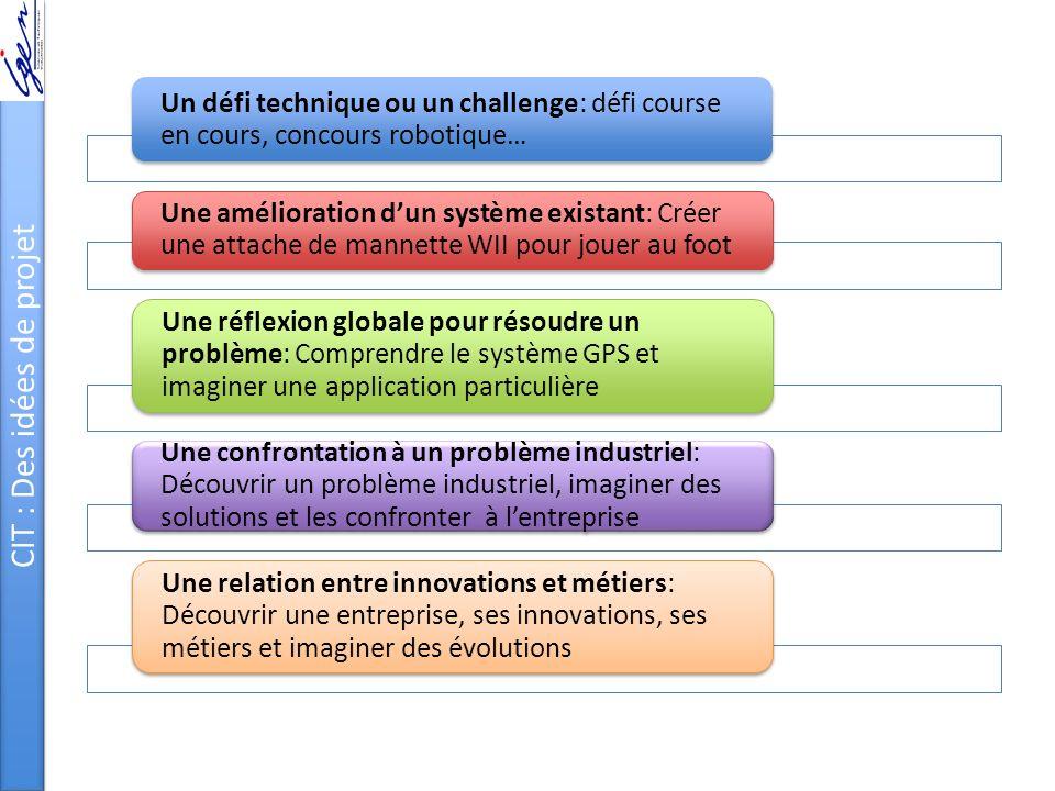 CIT : Des idées de projet