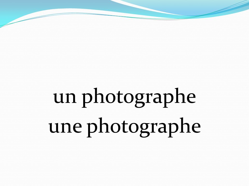 un photographe une photographe