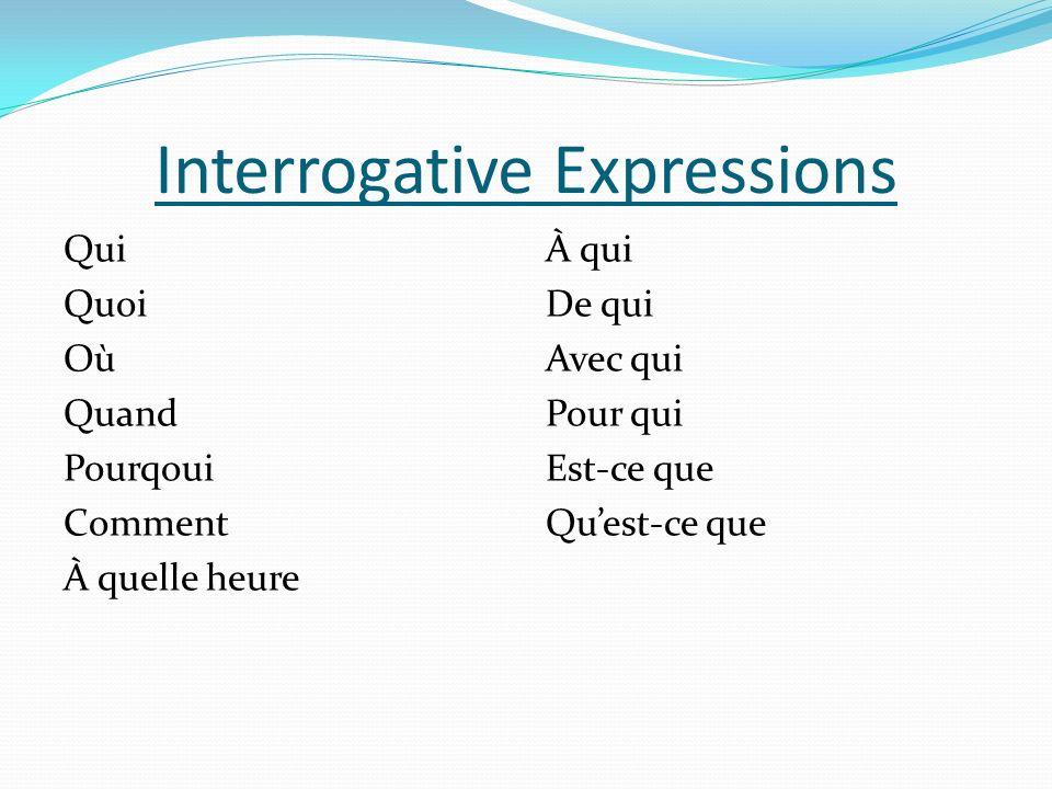 Interrogative Expressions