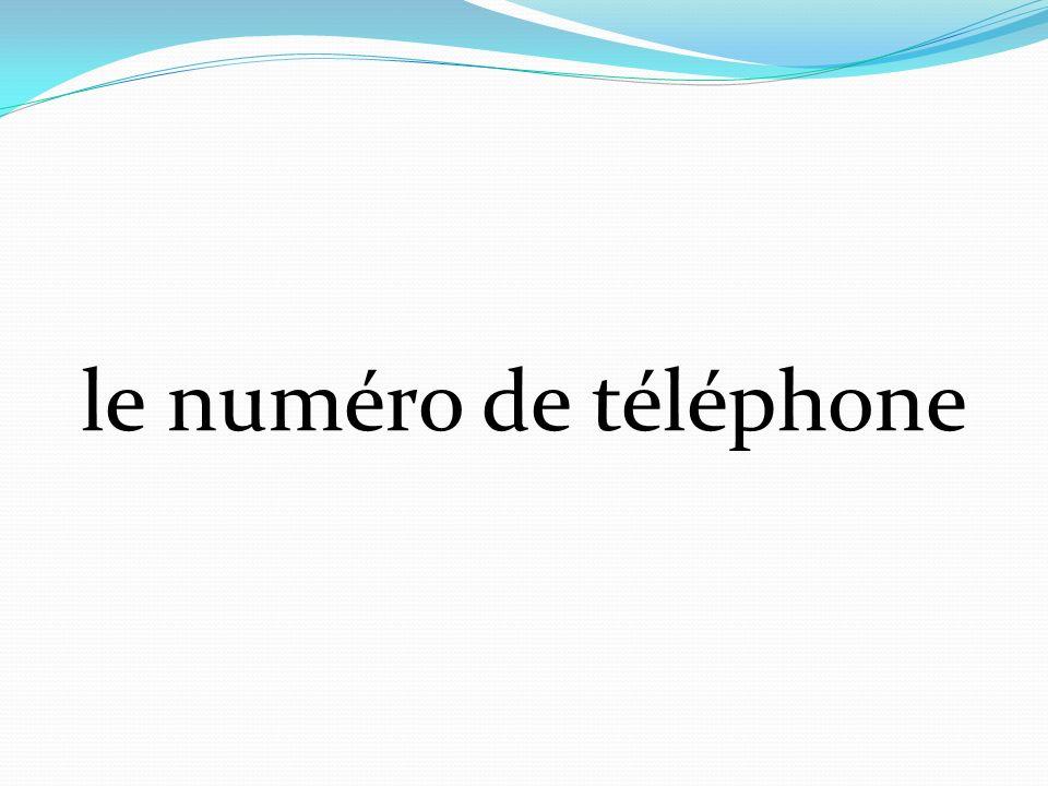 le numéro de téléphone