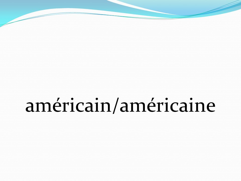 américain/américaine