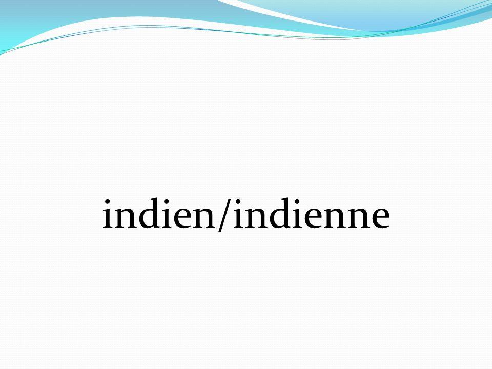 indien/indienne