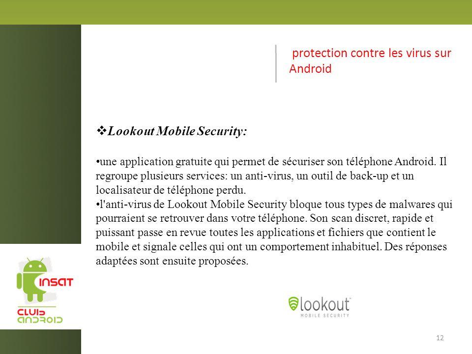 protection contre les virus sur Android