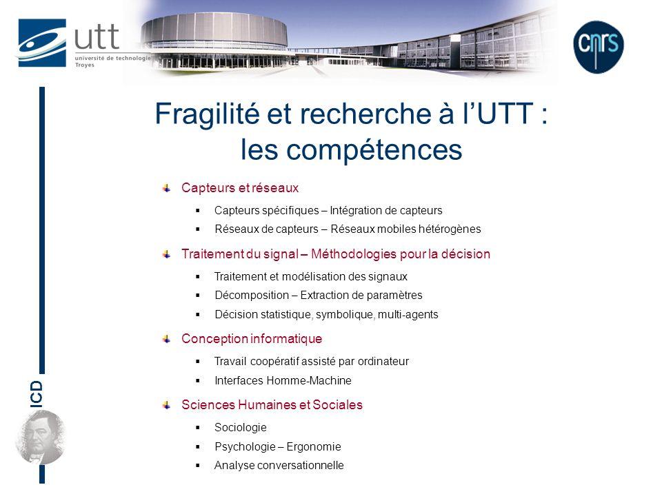 Fragilité et recherche à l'UTT :
