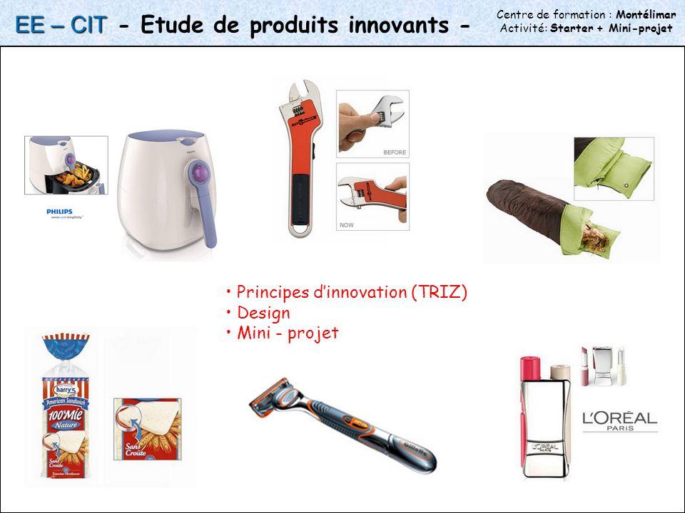 - Etude de produits innovants -