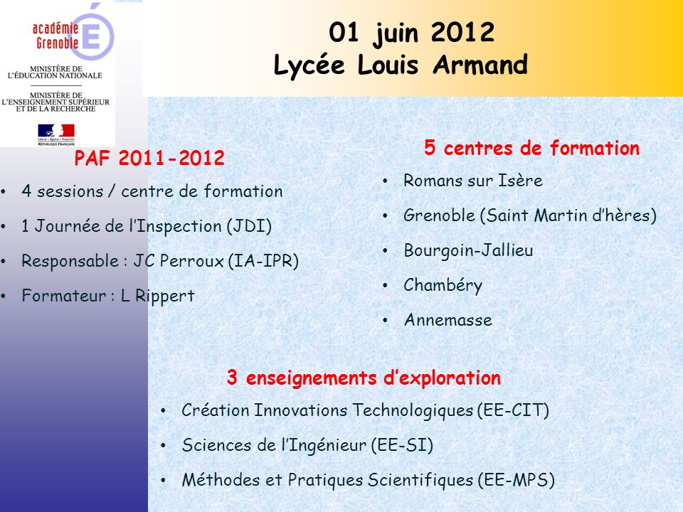 3 enseignements d'exploration