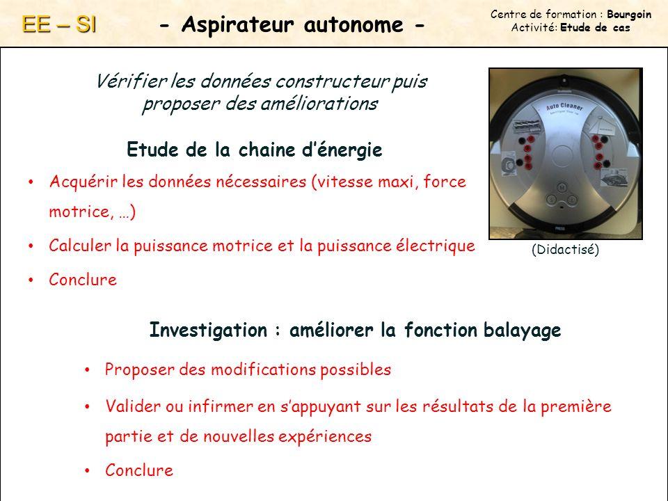 - Aspirateur autonome -