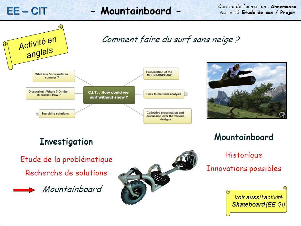 EE – CIT - Mountainboard - Activité en anglais