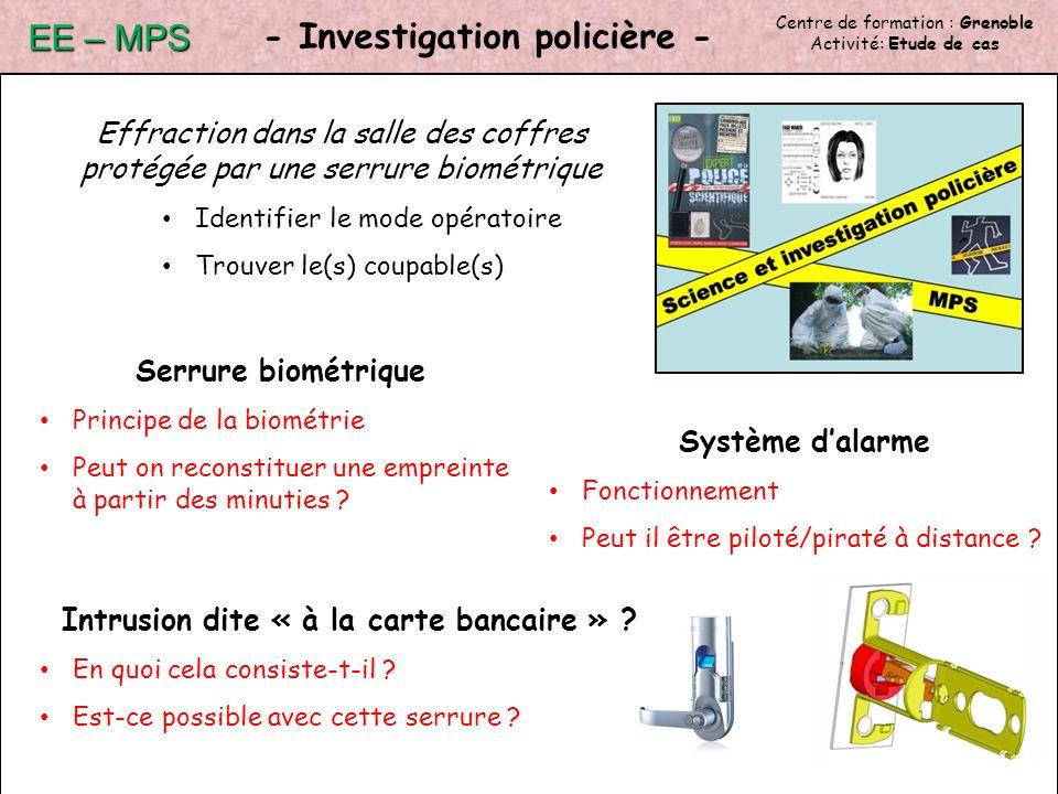 - Investigation policière -