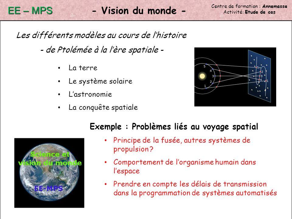 EE – MPS - Vision du monde -