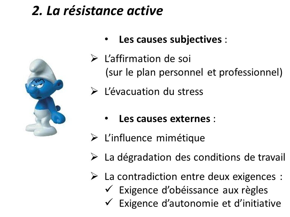 Les causes subjectives : L'affirmation de soi