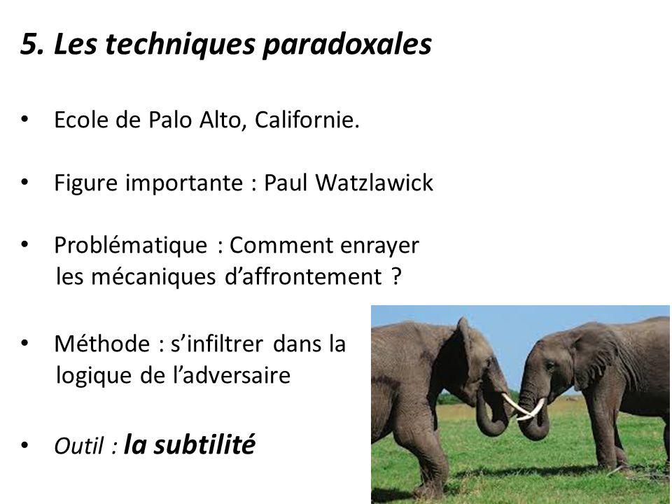 5. Les techniques paradoxales