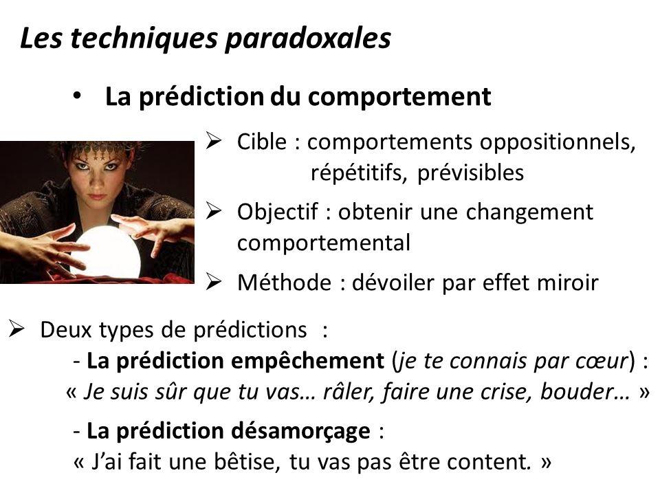 Les techniques paradoxales