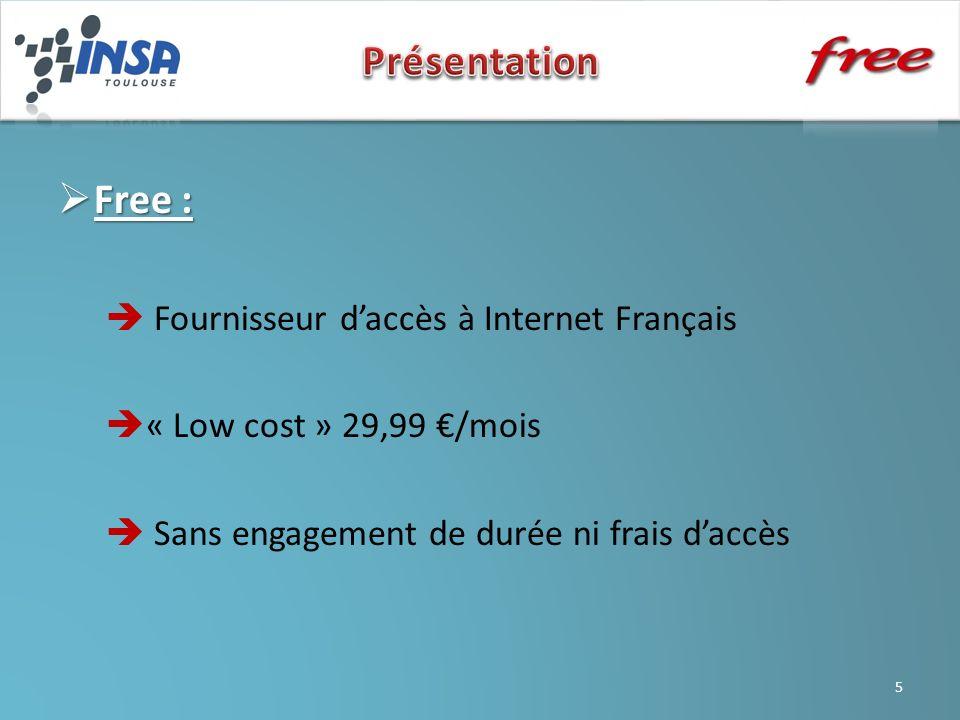 Présentation Free :  Fournisseur d'accès à Internet Français