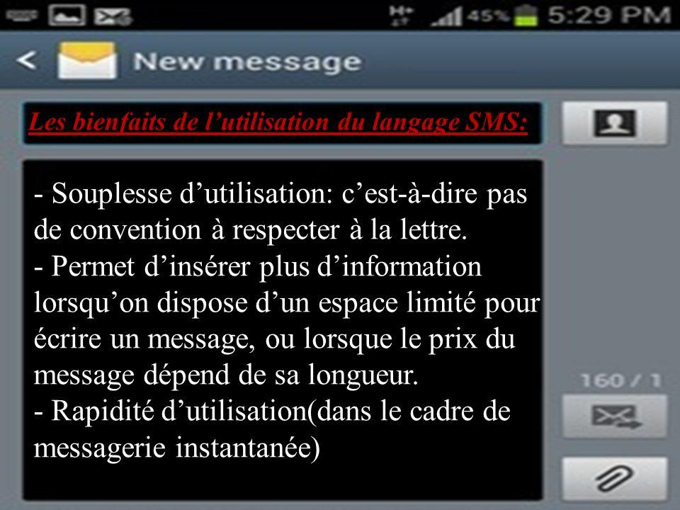 Les bienfaits de l'utilisation du langage SMS: