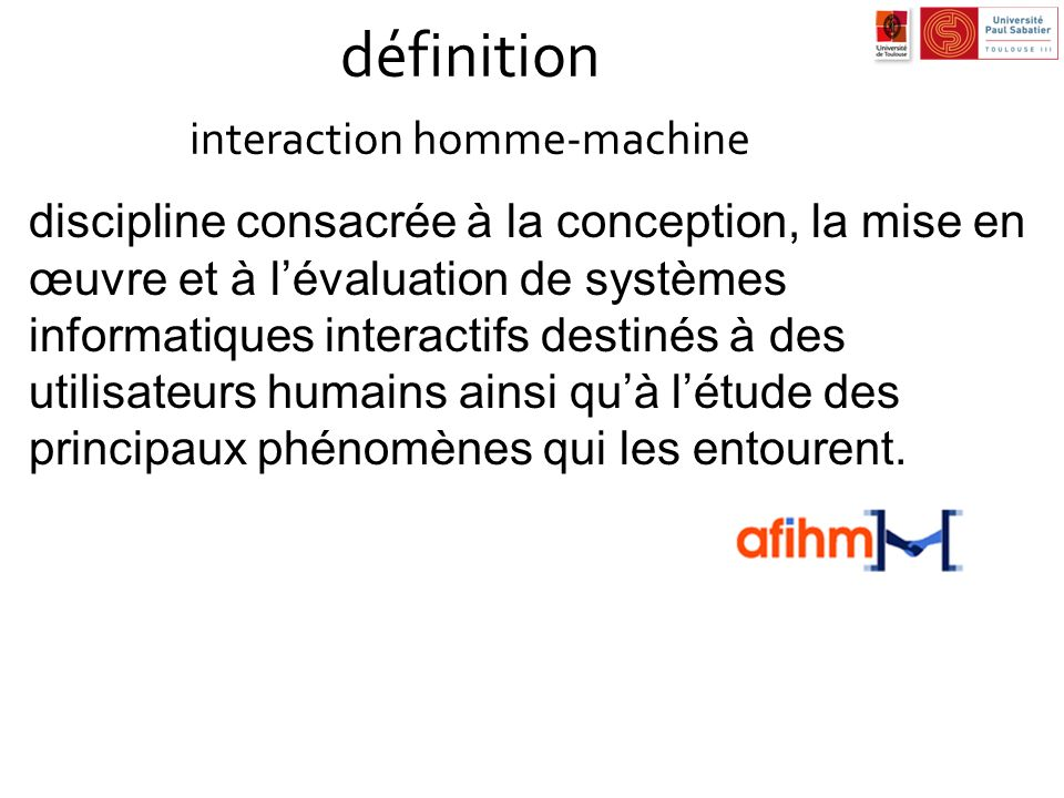 définition interaction homme-machine