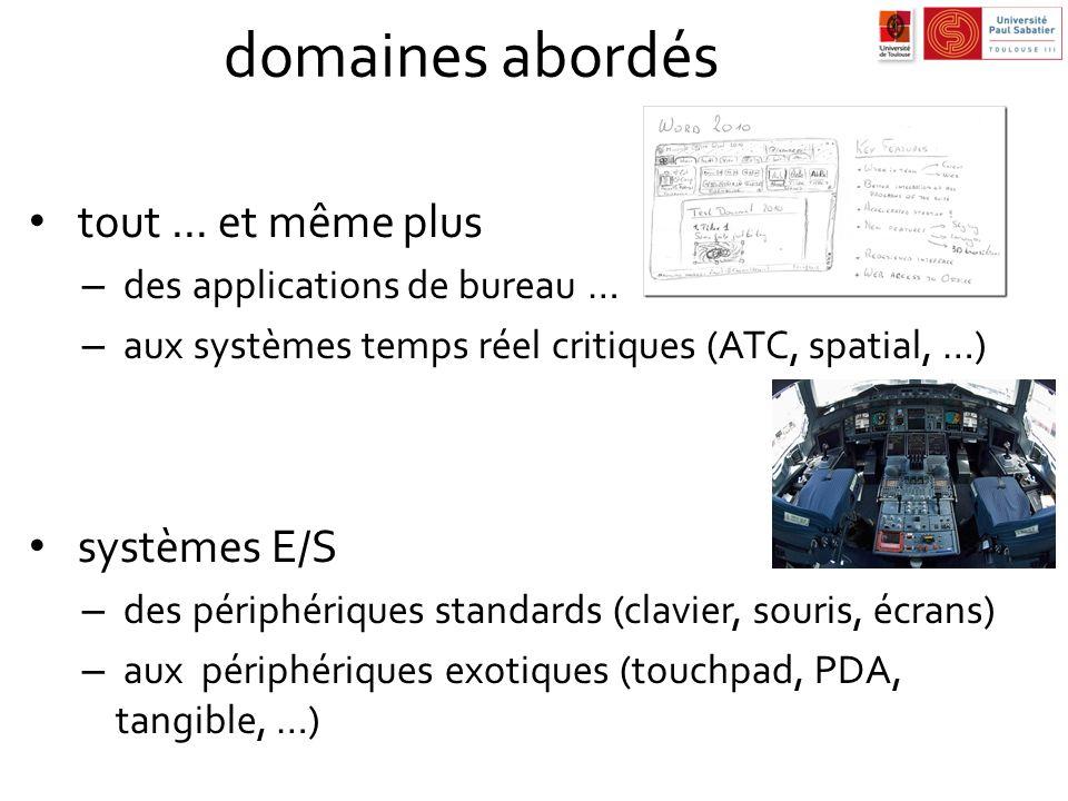 domaines abordés tout ... et même plus systèmes E/S